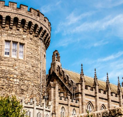Dublin Castle near the Belvedere Hotel