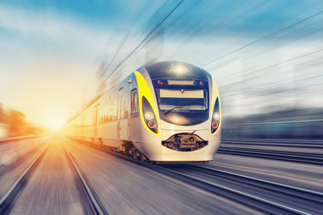 Dublin City Centre Amenities - Train on Track